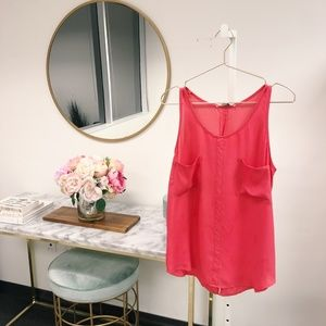 BB Dakota Tops - BB Dakota Coral Pink Tank Blouse